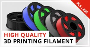 High-quality PLA and ABS 3D printing filament.
